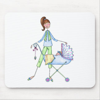 New Mommy Baby Boy Stroller Mouse Pad