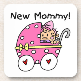 New Mommy Baby Girl Gifts Coaster