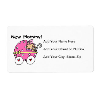 New Mommy Baby Girl Gifts Shipping Labels