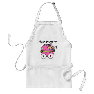 New Mommy Baby Girl Tshirts and Gifts Adult Apron