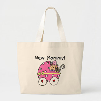 New Mommy Baby Girl Tshirts and Gifts Large Tote Bag