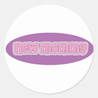 New Mommy Classic Round Sticker
