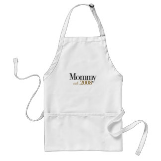 New Mommy Est 2008 Adult Apron