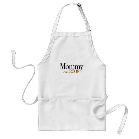 New Mommy Est 2008 Adult Apron