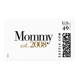 New Mommy Est 2008 Postage Stamp