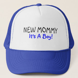 New Mommy Its A Boy Blue Trucker Hat