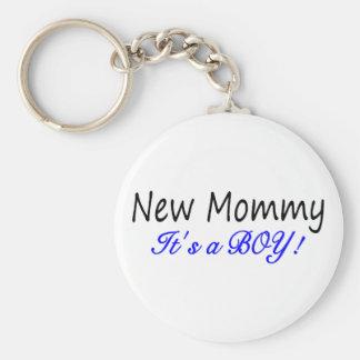 New Mommy Its A Boy Keychain