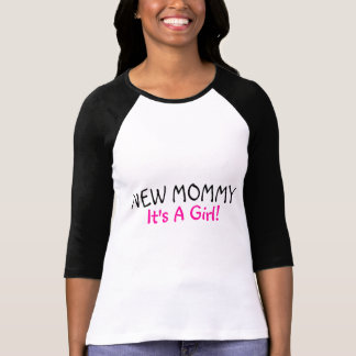 New Mommy Its A Girl Pink Black Shirts