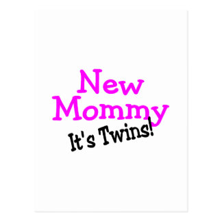 New Mommy Its Twins Postcard