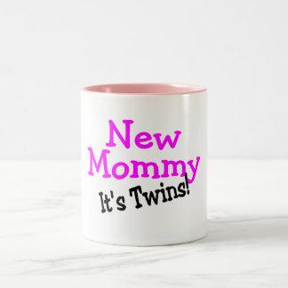 New Mommy Its Twins Two-Tone Coffee Mug