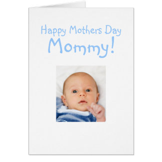 New Mommy Mothers Day Card From Baby Boy