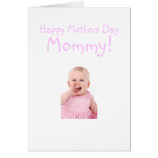 New Mommy Mothers Day Card From Baby Girl