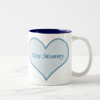 New Mommy Mug, Blue Two-Tone Coffee Mug