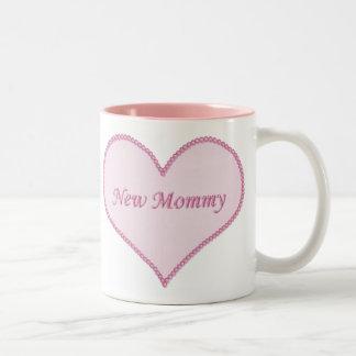 New Mommy Mug, Pink Two-Tone Coffee Mug