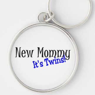 New Mommy Of Twins Keychain