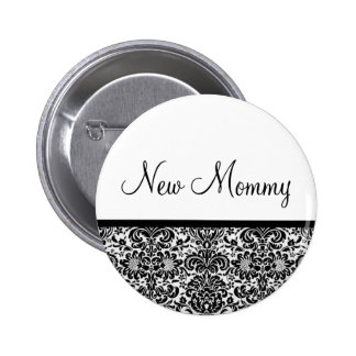New Mommy Pinback Button