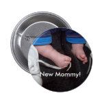 New Mommy! Pinback Buttons