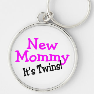 New Mommy Twin Girls Key Chains
