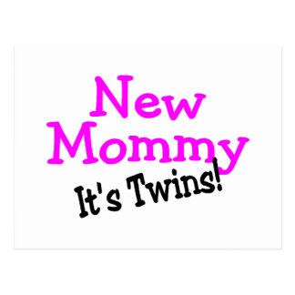 New Mommy Twin Girls Postcard
