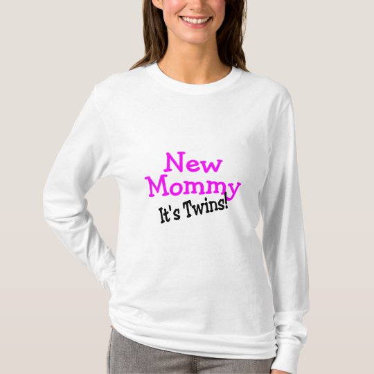 New Mommy Twin Girls T-Shirt