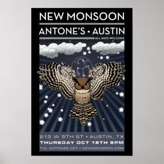 New Monsoon Antone's Austin TX 2012 Poster