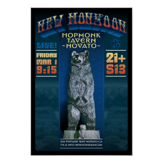 New Monsoon Hopmonk Tavern Novato CA 2013 Poster