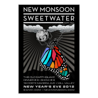 New Monsoon New Year s Eve 2012 Poster 13 x19