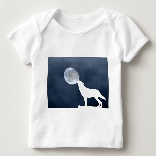 New Moon - howling wolf Baby T-Shirt