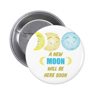 New Moon Pinback Button