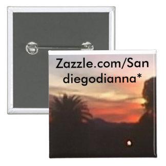 new morning sky, Zazzle.com/Sandiegodianna* Button