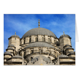 New Mosque Domes in Istanbul Card