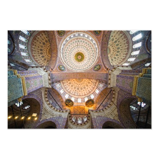 New Mosque Interior in Istanbul Photo Print