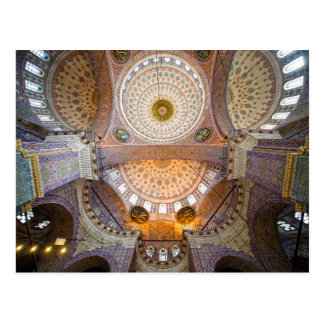 New Mosque Interior in Istanbul Postcard