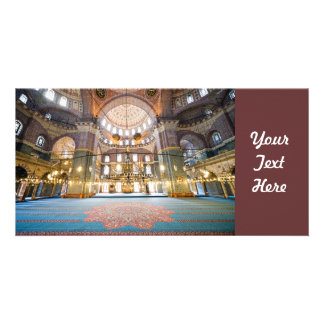 New Mosque Interior Photo Card Template