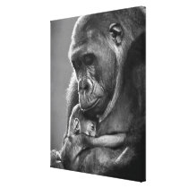 New Mother Gorilla Canvas Print