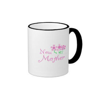 New Mother Pink Flowers T-shirts and Gifts Ringer Coffee Mug