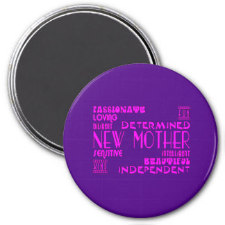 New Mothers & New Moms Baby Showers : Qualities 3 Inch Round Magnet