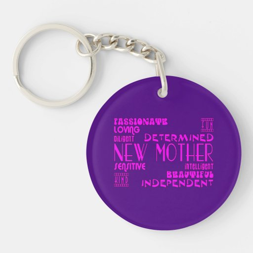 New Mothers & New Moms Baby Showers : Qualities Round Acrylic Key Chain