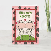 New Move Congratulations - Cows Card