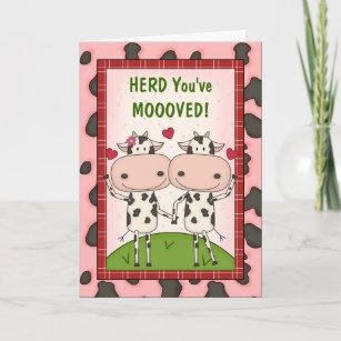 New Move Congratulations Cows Card