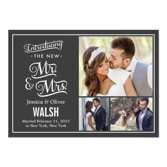 New Mr And Mrs Wedding Announcement