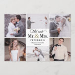 """New Mr and Mrs Wedding Photo Thank You Card<br><div class=""""desc"""">Modern and stylish save the date cards from Berry Berry Sweet Designs. Visit our design showroom at WWW.BERRYBERRYSWEET.COM for more stylish stationery designs. Other color options are available.</div>"""