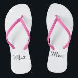 """New Mrs. Flip Flops<br><div class=""""desc"""">Flip flops for shower or on honeymoon</div>"""