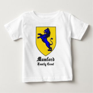 new mumford family crest coat of arms infant t-shirt