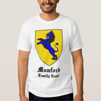 new mumford family crest coat of arms shirt