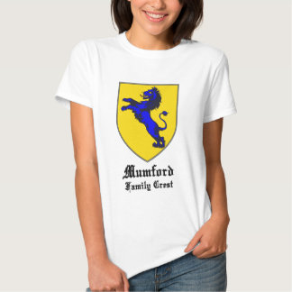 new mumford family crest coat of arms t shirt
