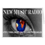 New Music Radio Greeting Cards