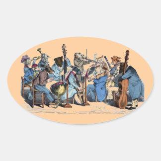 NEW MUSICAL LANGUAGE / ANIMAL FARM ORCHESTRA OVAL STICKER