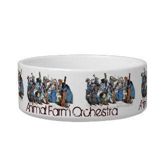 NEW MUSICAL LANGUAGE / ANIMAL FARM ORCHESTRA PET FOOD BOWLS
