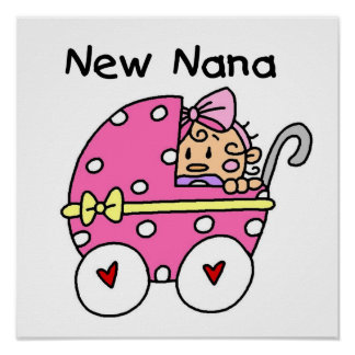 New Nana Baby in Carriage Gifts Poster